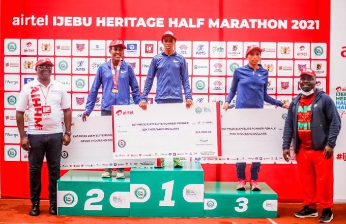 Kenyans Dominate, Youngest Runner Emerge At The Maiden Edition of Airtel Ijebu Heritage Half Marathon