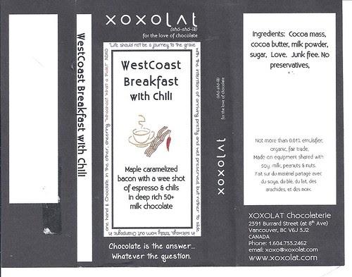 XOXOLAT WestCoast Breakfast with Chili