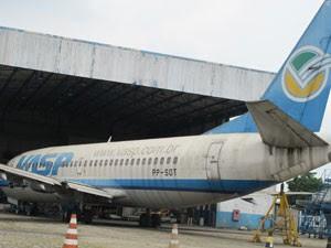 Aeronave 'encalhadas' em Congonhas (Foto: Gabriela Gasparin/G1)