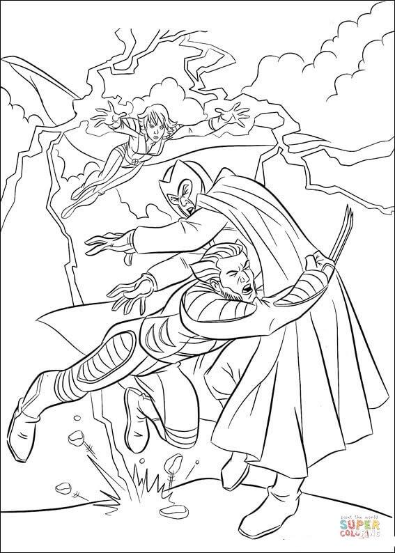 Dibujo De Wolverine Lucha Contra Magneto Para Colorear Dibujos