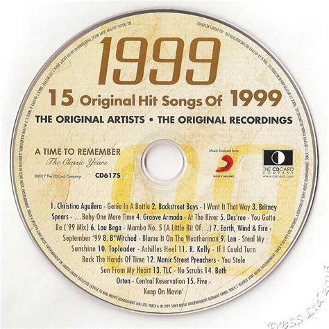 20th China Wedding Anniversary gift ~ Hit Music of 1999 CD