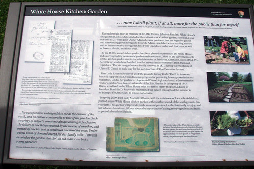 white house vegetable garden information plaque