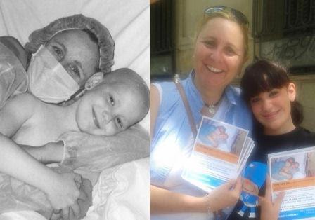 Paciente leucemia Marta antes y después