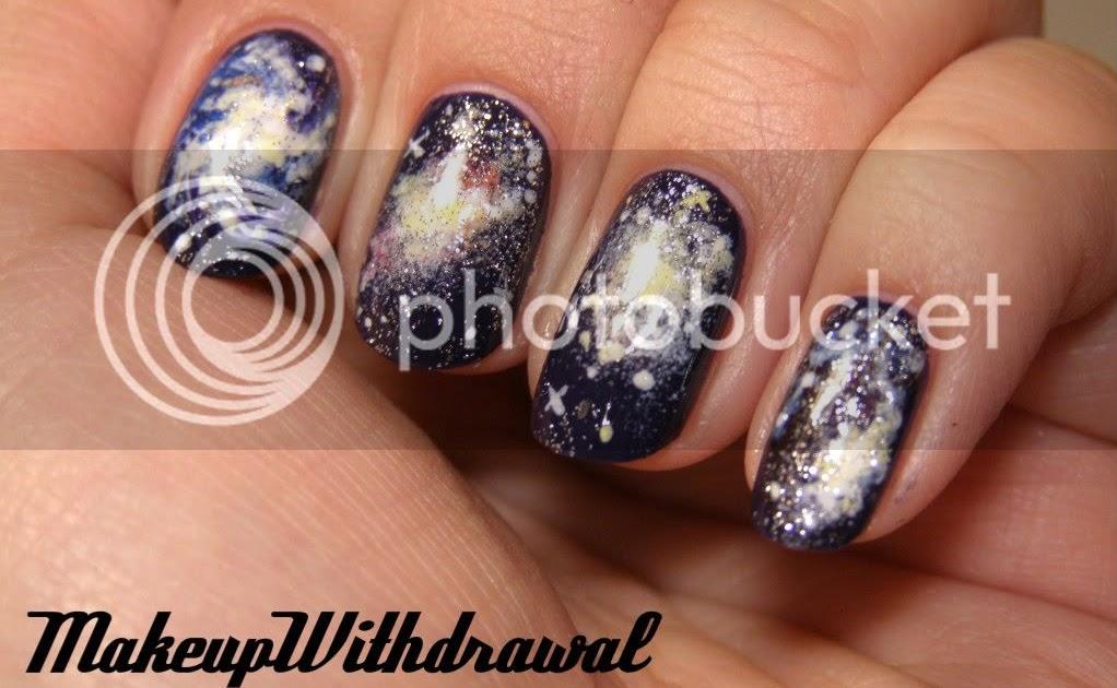 Day 19 Galaxy Nails Makeup Withdrawal