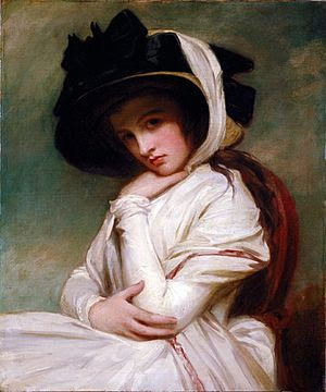 Emma Hamilton, in a 1782–84 portrait by George...