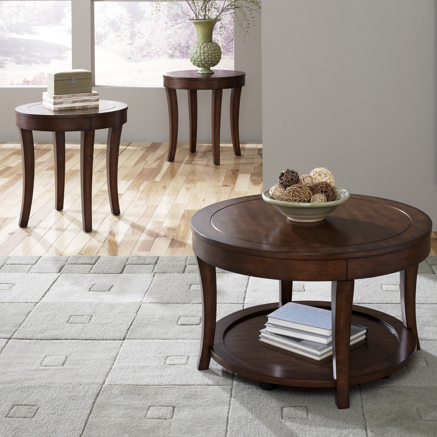 Dark Wood Coffee Table Set Furnitures | Roy Home Design
