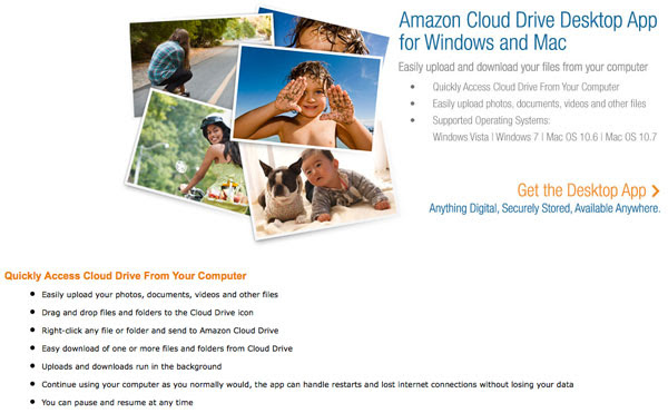 Amazon outs Cloud Drive desktop app for Windows and Mac, allows easy access to your digital wares
