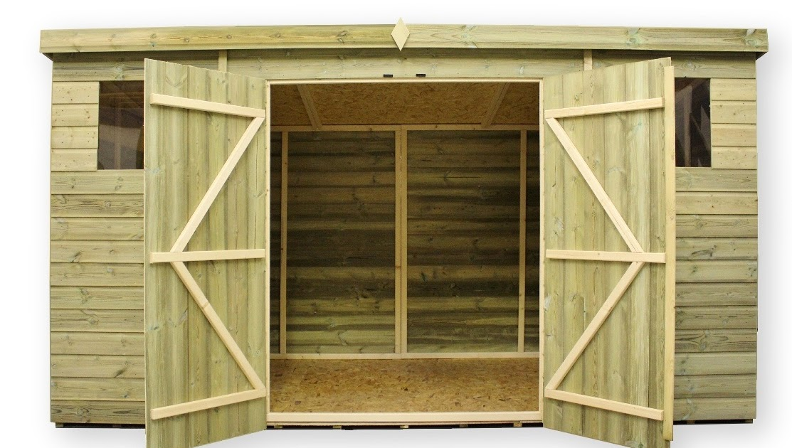 Work with wood project popular plans for double shed doors for Double door shed plans