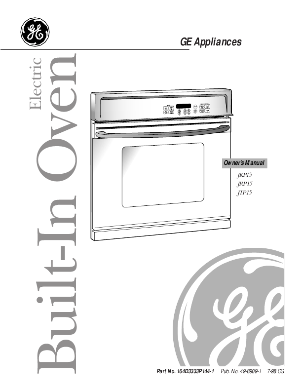 33 Ge Wall Oven Parts Diagram