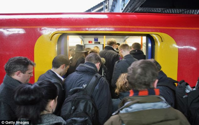 Crush: The Institute for Economic Affairs argues that too many people are already forced to stand in carriages where seats take up too much space