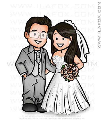Caricatura fofinha, caricatura casal, caricatura delicada, caricatura divertida, by ila fox