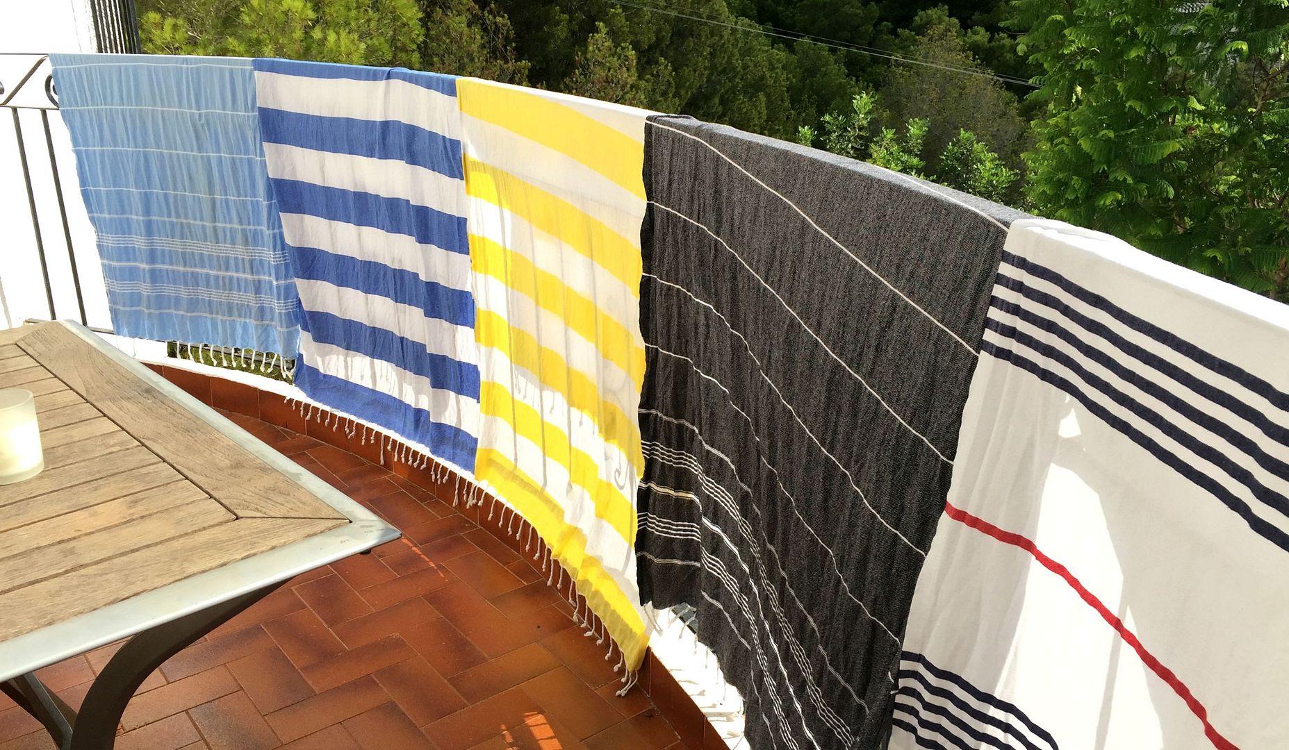 Hammamas beach towels drying