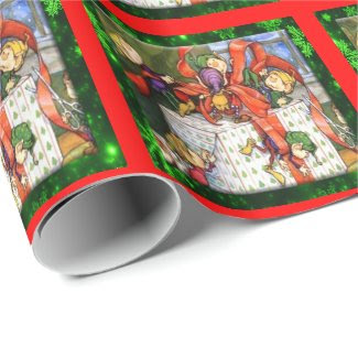 Merry Elves Wrapping Present Wrapping Paper