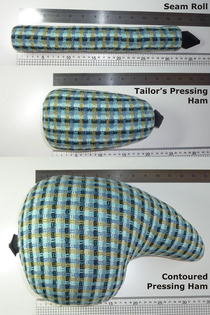 03 – Seam Roll, Tailor's Pressing Ham, and Contoured Ham