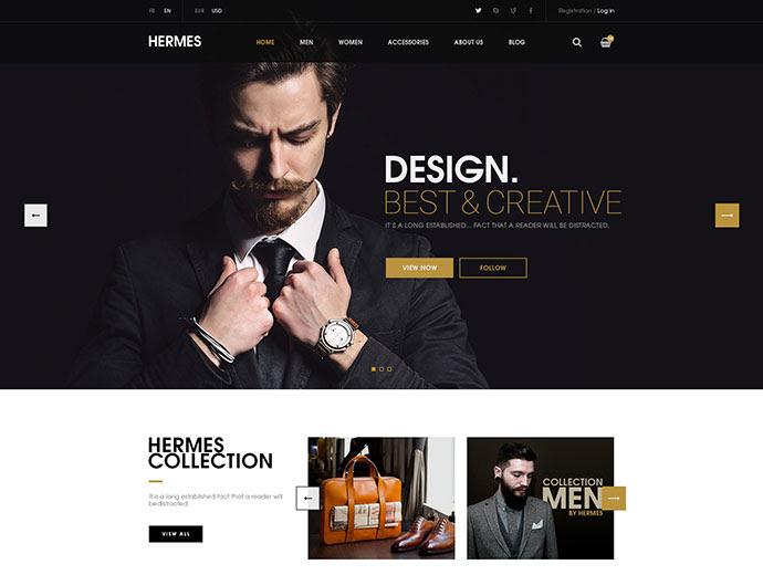 Hermes - plantilla eCommerce PSD