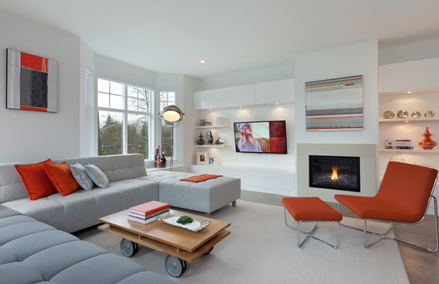 Roxton - contemporary - living room - vancouver - by Portico ...