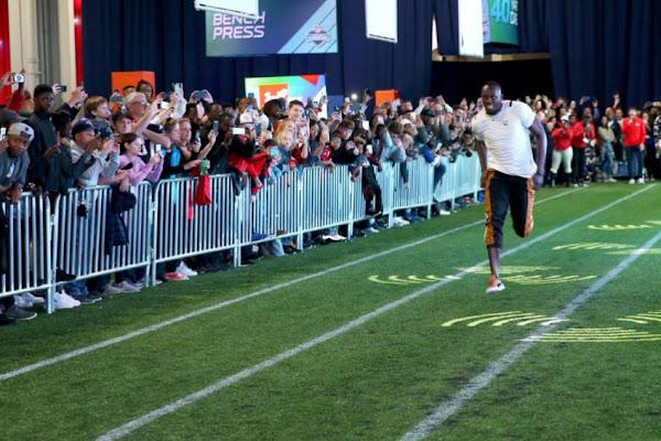 4f0c5181d8304 Usain Bolt empata récord de velocidad en 40 yardas de NFL