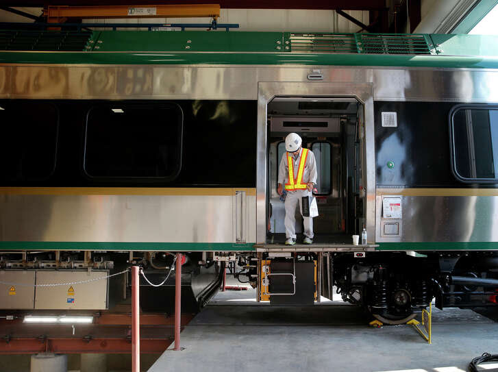 A SMART train is readied for testing in Santa Rosa. The SMART commuter rail service is due to start up in late 2016, initially between Santa Rosa and San Rafael, with plans for extension.