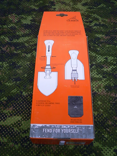 Gerber Gorge Folding Shovel - Gerber Pala Plegable Embalaje Trasero Instrucciones