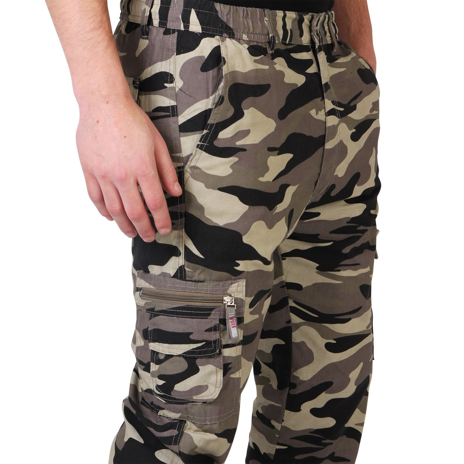 mens combat military army camouflage cargo trousers pants