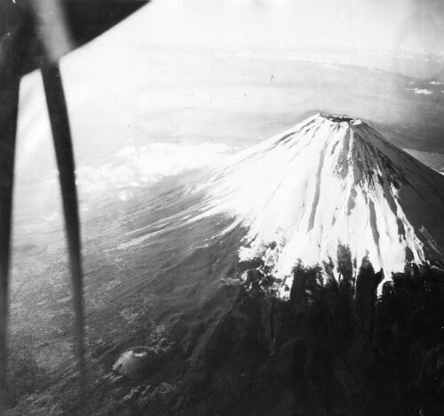 View of Mount Fujiyama taken from an 8th Photo Recon Squadron aircraft, 1945-46 by San Diego Air & Space Museum Archives