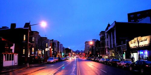 Looking West on U Street by M.V. Jantzen.