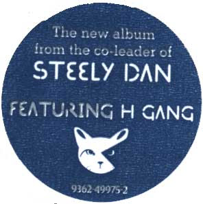 Sticker on Morph The Cat saying it's the new album from the co-leader of Steely Dan