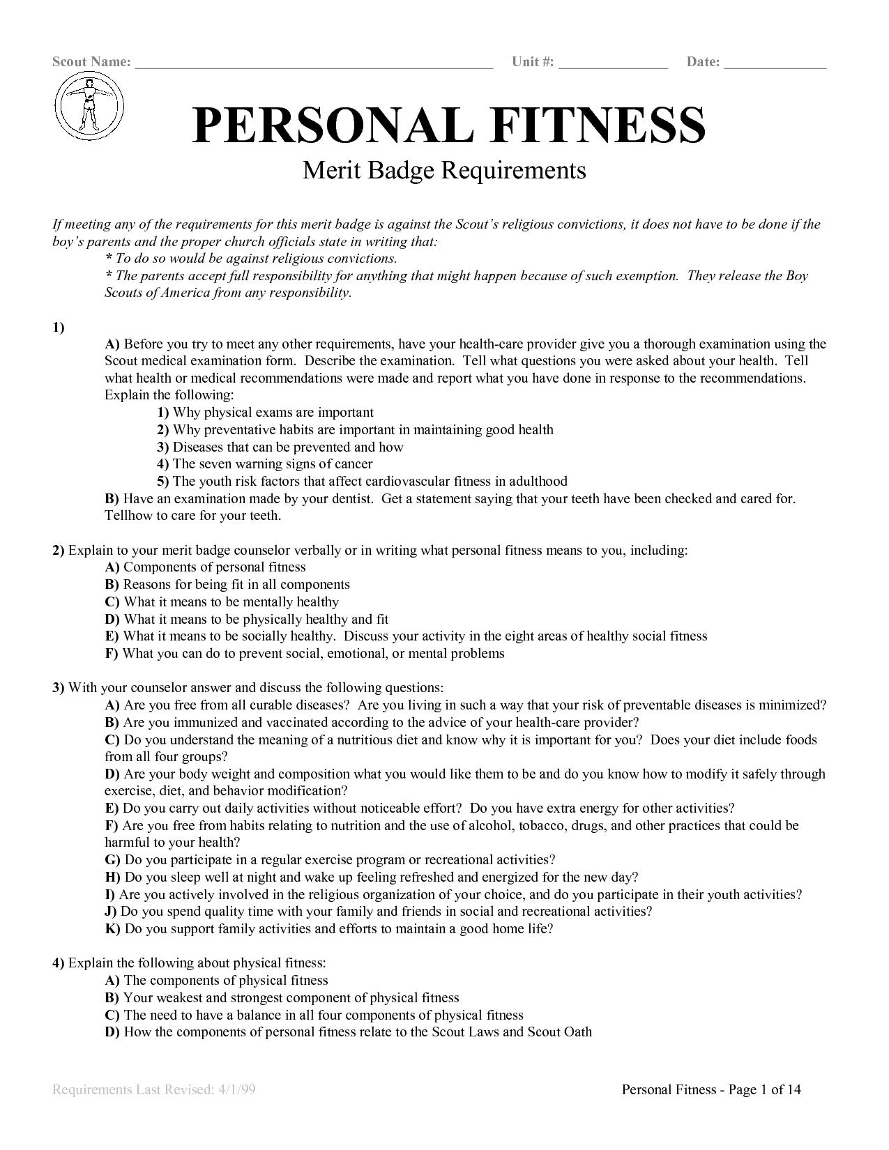 10 Best Images of Family Life Merit Badge Worksheet  Personal Management Merit Badge Worksheet