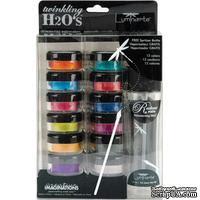 Набор красок от Luminarte - Carnivale Тwinkling H2O Kit - ScrapUA.com