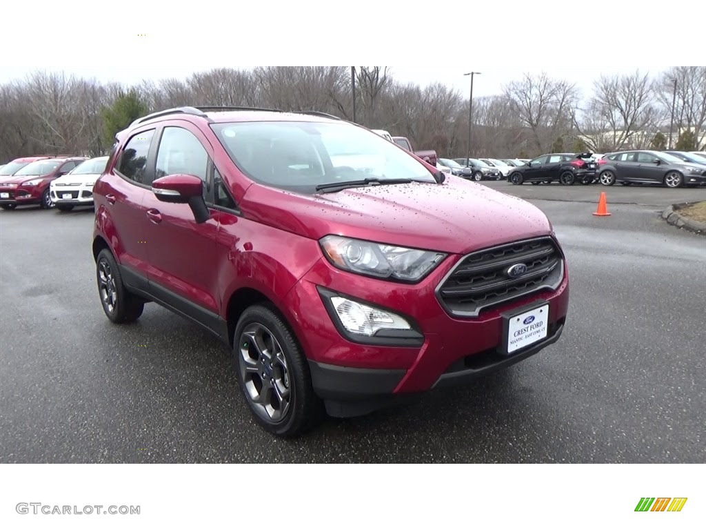 2018 Ruby Red Ford Ecosport Ses 4wd 125373519 Gtcarlot