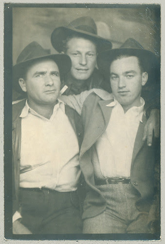 Trio in a photobooth