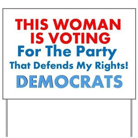 Women Voting Democrats Lawn Sign by LiberalsCreatingProgress