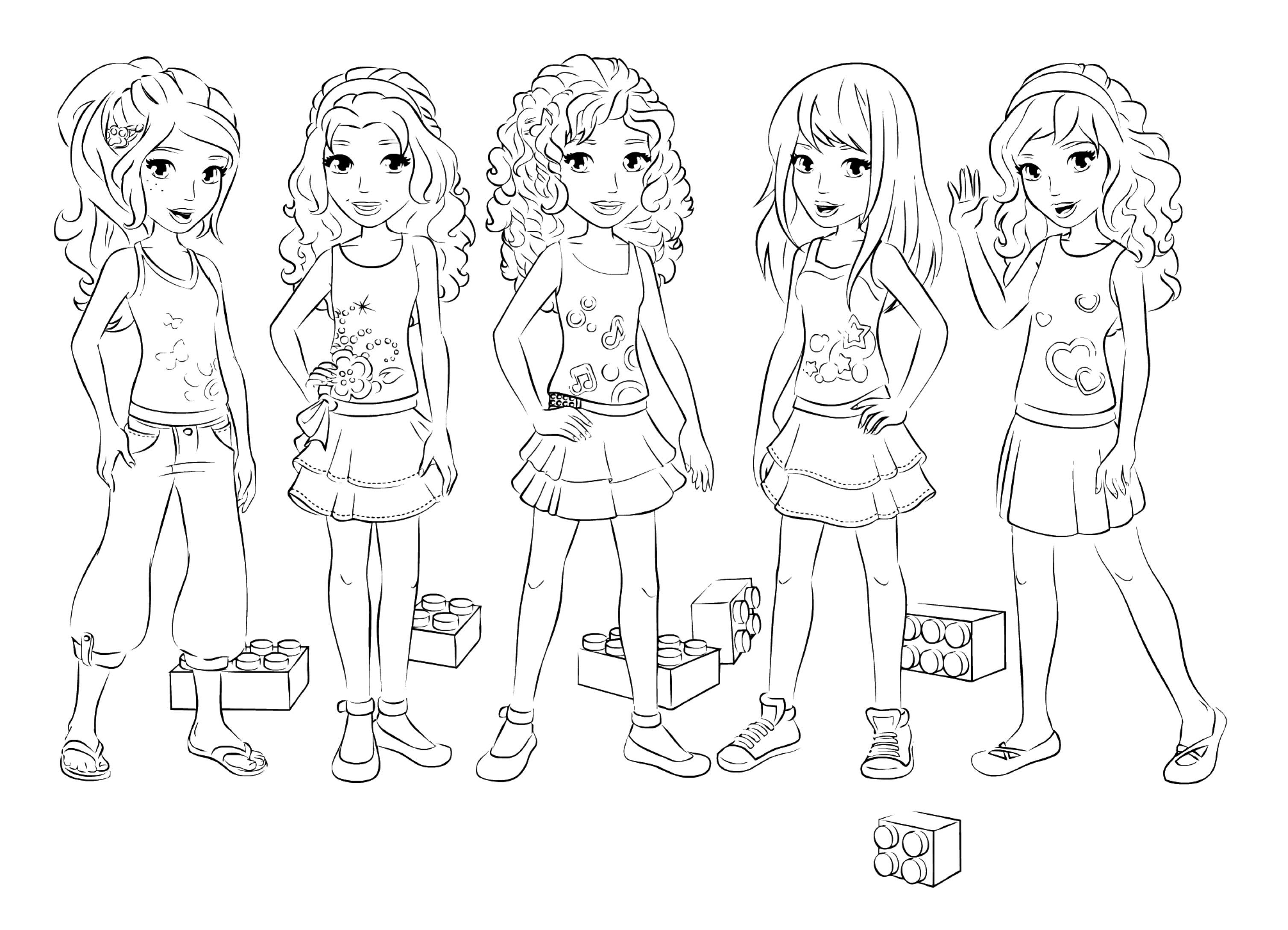 Coloring Pages Of Friends Together At Getdrawingscom Free For