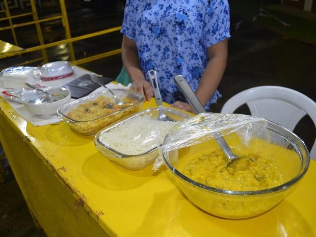 Pratos típicos do Amapá agradaram aos franceses (Foto: Gabriel Dias/G1)