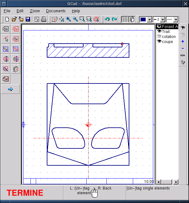 techdrawing: QCAD: Technical drawing with Linux