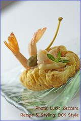 Bites - Puff Pastry with Prawn with Mayo and C...
