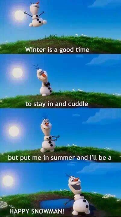 Olaf puddle, Olaf summer, Olaf quote, Disney Frozen, Disney snowman