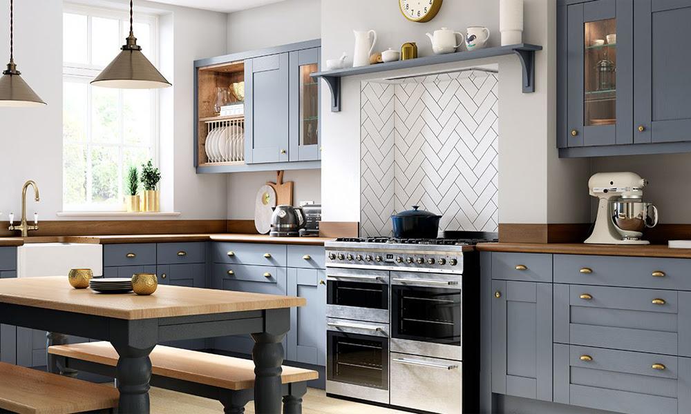 Light Blue New Design Shaker Kitchen Cabinets Swk 014 Houlive Solid Wood Kitchen Cabinets