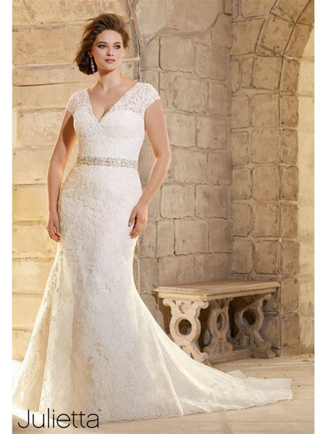 Mori Lee 3183 Size 24 Ivory Lace Wedding Dress Plus Size
