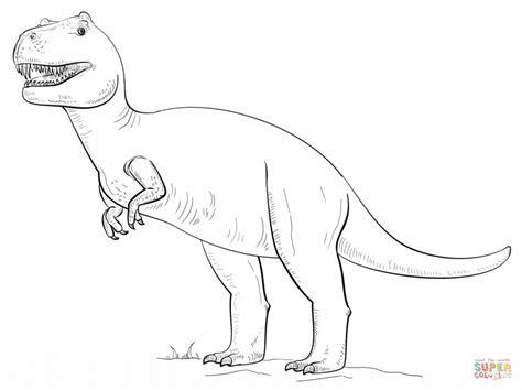 ausmalbilder dinosaurier tyrannosaurus rex - kostenlose