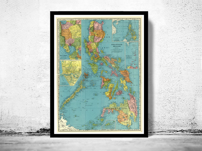 Old Map Of Philippine Islands Philippines 1903 Old Maps