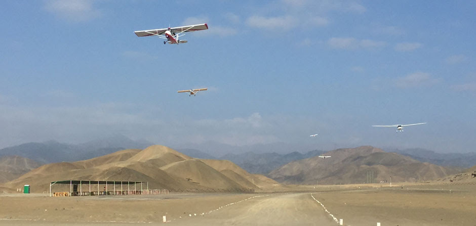 Ultralights in formation