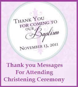 Thank You Messages! : Christening/Baptism