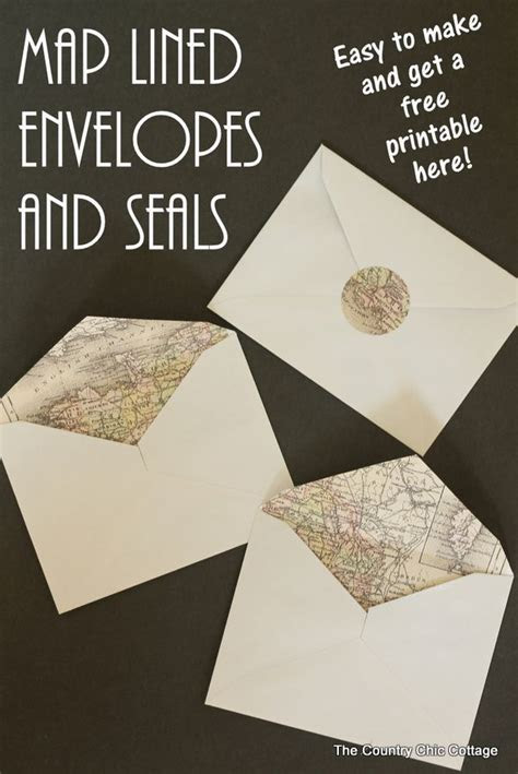 Making Map Lined Envelopes the EASY way   Crafts, Wedding