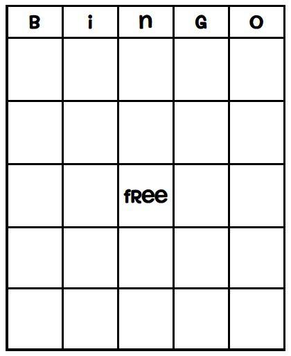 Blank Bingo Card Template - Every Bingo Game ever imagined has ...