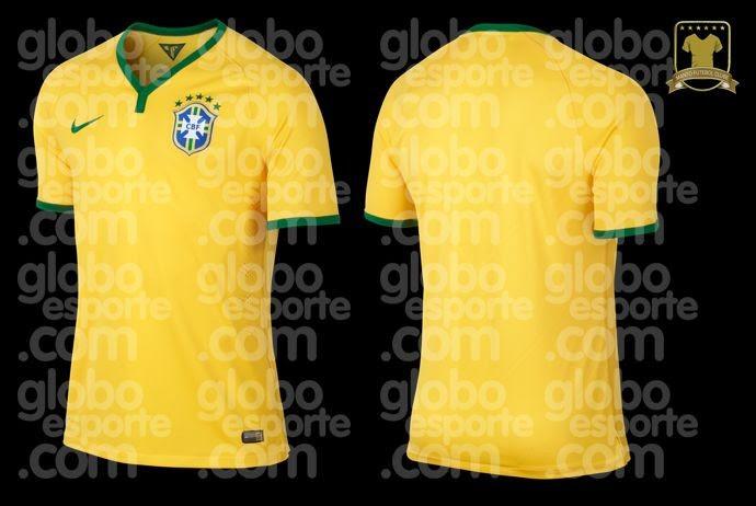 Nova camisa do Brasil para a Copa de 2014