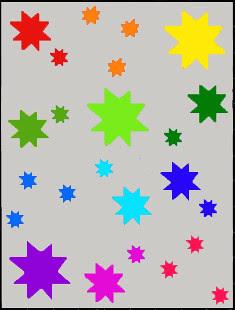 wonky star rainbow 2