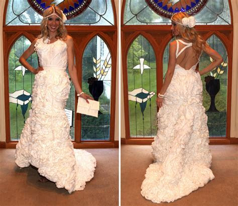 Toilet paper wedding dresses: Say what?