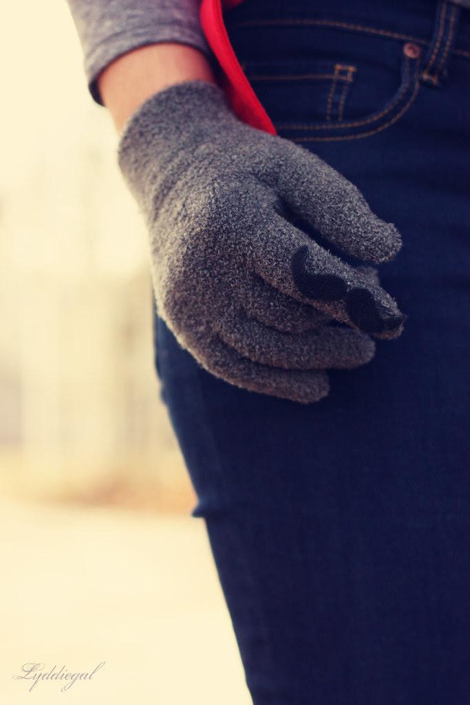 mustache glove