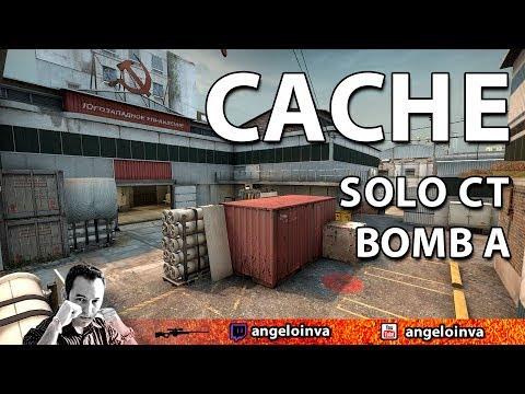 DICAS CS GO - Jogada Cache SOLO de CT bomb A